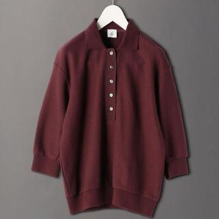 ビューティアンドユースユナイテッドアローズ(BEAUTY&YOUTH UNITED ARROWS)の<6(ROKU)>KANOKO POLO SHIRT ポロシャツ ブラウン(ポロシャツ)
