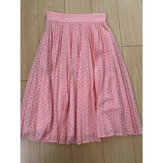 JILLSTUART - 【JILL STUART】ピンクプリーツスカート【ジルスチュアート】