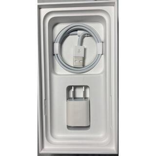 アイフォーン(iPhone)の【新品未使用】iPhone純正付属 USBアダプタ&ライトニング ケーブルセット(バッテリー/充電器)