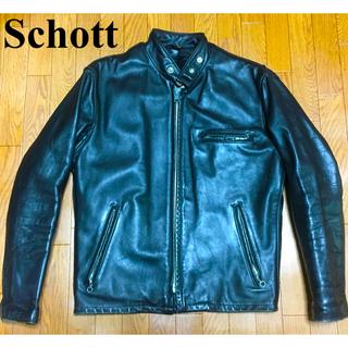 ショット(schott)のボアライナー付 Schott ショット 641 立襟ライダースジャケット 34(ライダースジャケット)