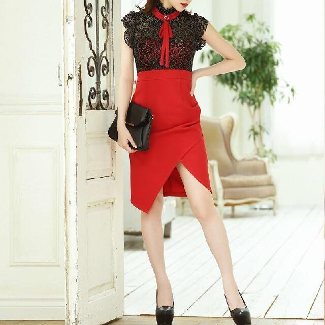 レースブラウス風ワンピース レディースのフォーマル/ドレス(ナイトドレス)の商品写真