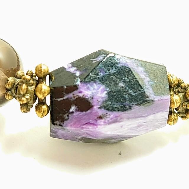 チャロアイト*スモーキークォーツの天然石ブレスレット ハンドメイドのアクセサリー(ブレスレット/バングル)の商品写真