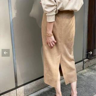 スピックアンドスパン(Spick and Span)のフェイクスエードストレッチタイトスカート◆(その他)