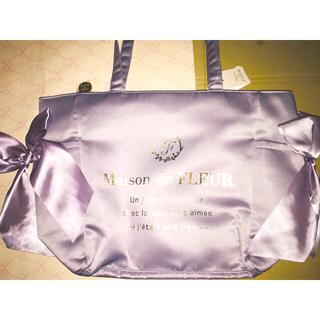 Maison de FLEUR - 新品ラベンダー池袋限定クリアポケット サイドリボントートバッグ メゾンドフルール