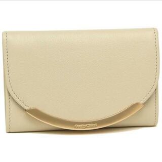 シーバイクロエ(SEE BY CHLOE)のシーバイクロエ【ホワイト×グリーン】折財布(財布)
