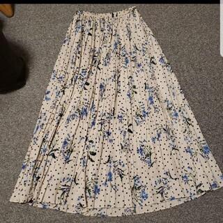 IENA - IENA ドットフラワープリーツスカート
