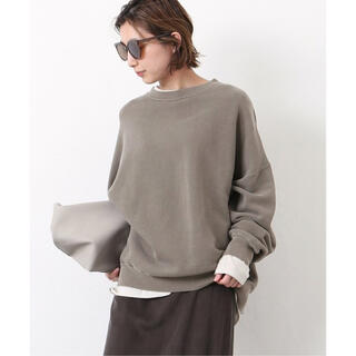 DEUXIEME CLASSE - Deuxieme Classe  wear out sweat  カーキ