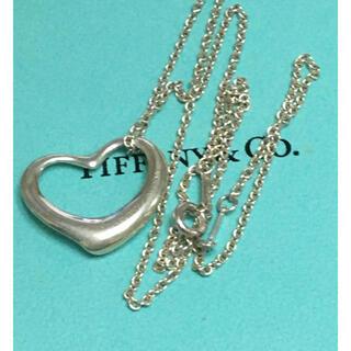 ティファニー(Tiffany & Co.)の美品★ティファニー★オープンハート ネックレス(ネックレス)
