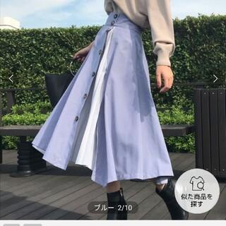 Noela - ノエラ プリーツ切替スカート ブルー