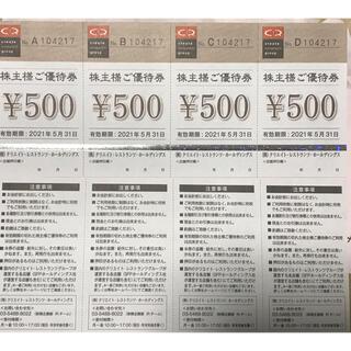 クリエイトレストランツ株主優待券8000円