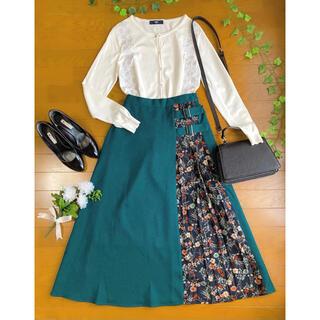 Fabulous Angela - コーデセット ✽ 刺繍カーディガン+花柄切り替えロングスカート ✽