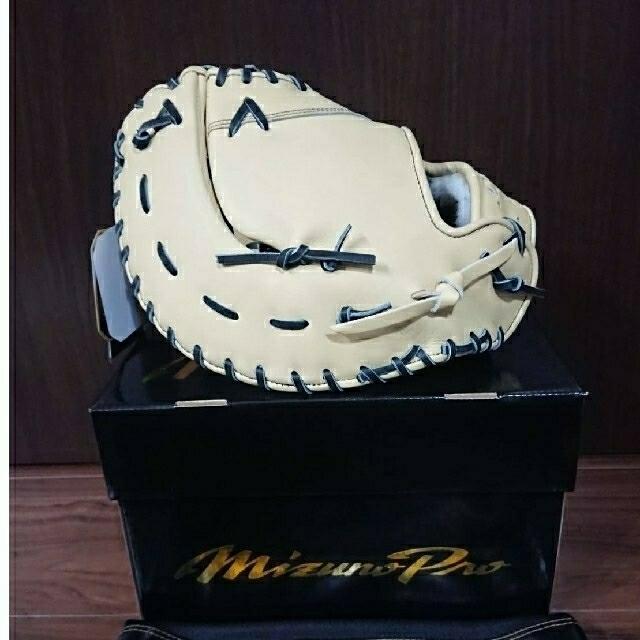 【早い者勝ち】ミズノプロ『限定』軟式ファーストミットブロンド  スポーツ/アウトドアの野球(グローブ)の商品写真