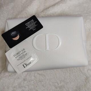 Dior - ディオール ポーチ ホワイト 白 クッションファンデ サンプル 化粧下地