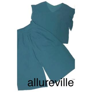 【allureville】ブラウス パンツ セットアップ