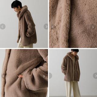 アズールバイマウジー(AZUL by moussy)のアズール フラッフィーショールカラーコート(毛皮/ファーコート)