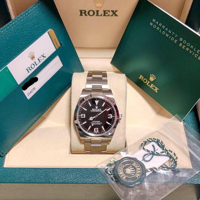 ROLEX(ロレックス)のsk様専用【美品】ロレックス エクスプローラー1 214270 2019年 白タ メンズの時計(腕時計(アナログ))の商品写真