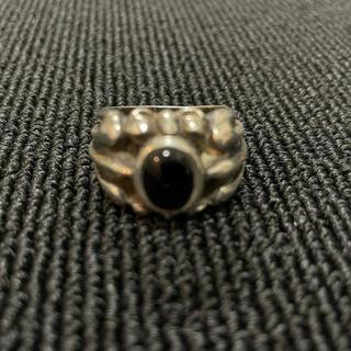 エーアンドジー(A&G)のA&G オニキスシルバーリング 正規品(リング(指輪))