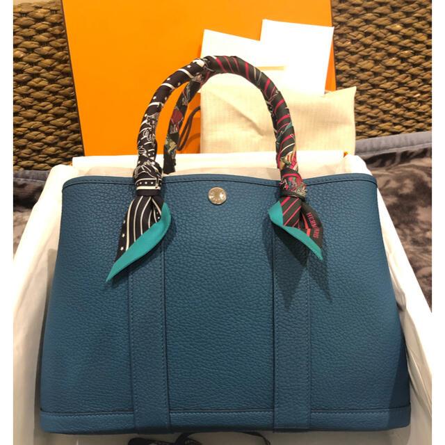 Hermes(エルメス)の新品未使用 エルメス ガーデンパークtpm 緑ブルー レディースのバッグ(ハンドバッグ)の商品写真