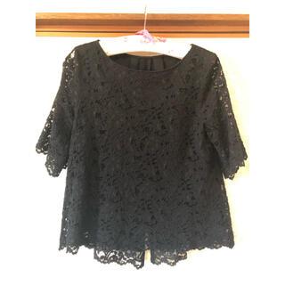ロートレアモン(LAUTREAMONT)のLAUTREAMONT BLACK レーストップス(シャツ/ブラウス(半袖/袖なし))