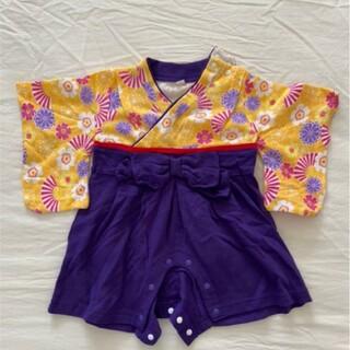 アカチャンホンポ(アカチャンホンポ)の袴ロンパース 女の子 60cm ベビー服 お食い初め(ロンパース)