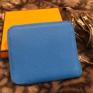 エルメス(Hermes)の新品未使用,エルメス シルクイン短い財布-ブルー(財布)