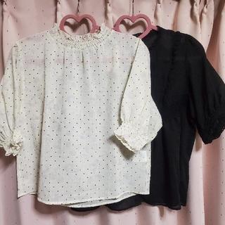 ダブルクローゼット(w closet)のブラウス2点セット(シャツ/ブラウス(半袖/袖なし))