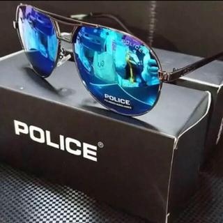 ポリス(POLICE)のポリスs8480 偏光グラス  ミラーレンズが◎ ケース、メガネ拭き、カード付き(サングラス/メガネ)