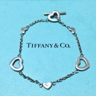 Tiffany & Co. - ティファニー ハートリンク ラリアット ブレスレット オープンハート バングル