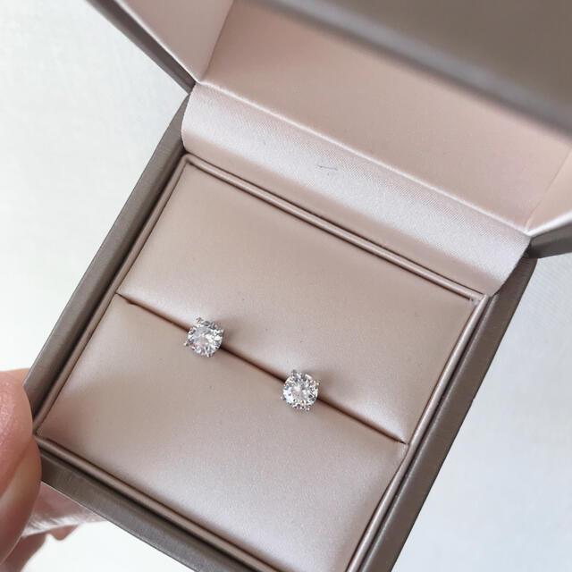 HARRY WINSTON(ハリーウィンストン)の最高品質 sonaダイヤモンド ピアス 5㎜ レディースのアクセサリー(ピアス)の商品写真