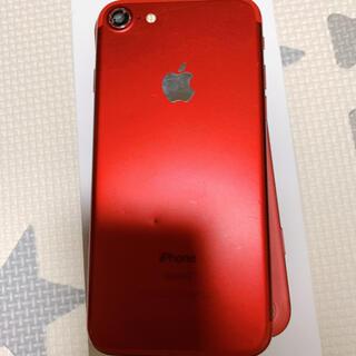 アップル(Apple)のiPhone7 au 128GB   カメラレンズ割れ有り(スマートフォン本体)