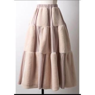 ラベルエチュード(la belle Etude)のラベルエチュード Belle vintage ファー×ベロアボリュームスカート(ロングスカート)
