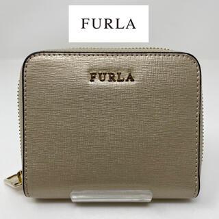 Furla - 未使用☺︎FURLA フルラ ミニ財布 二つ折り財布 ベージュ ゴールド