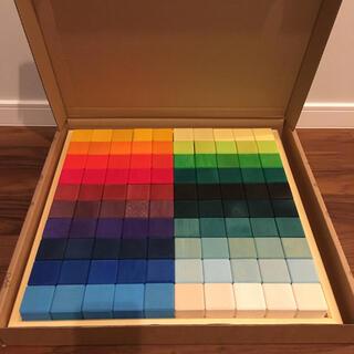 グリムス社 にじのキューブ 大 100ピース(20色)セット 木枠付き