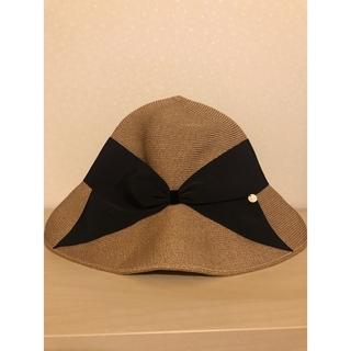 ユナイテッドアローズ(UNITED ARROWS)のAthena New York リサコ ブラック美品(麦わら帽子/ストローハット)