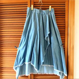 リベットアンドサージ(rivet & surge)の美品 変形 アシンメトリー 韓国ファッション レディース ロングスカート(ロングスカート)