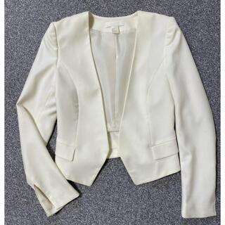 H&M - H&M ノーカラージャケット ホワイト