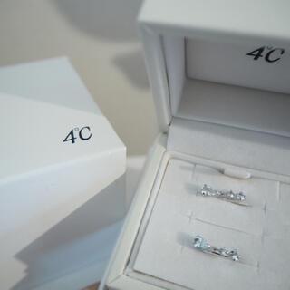 ヨンドシー(4℃)のK10ホワイトゴールド イヤリング 4℃(イヤリング)