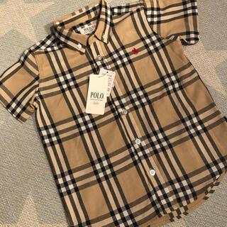 100cm POLO Baby チェックシャツ ポロベビー ポロベア