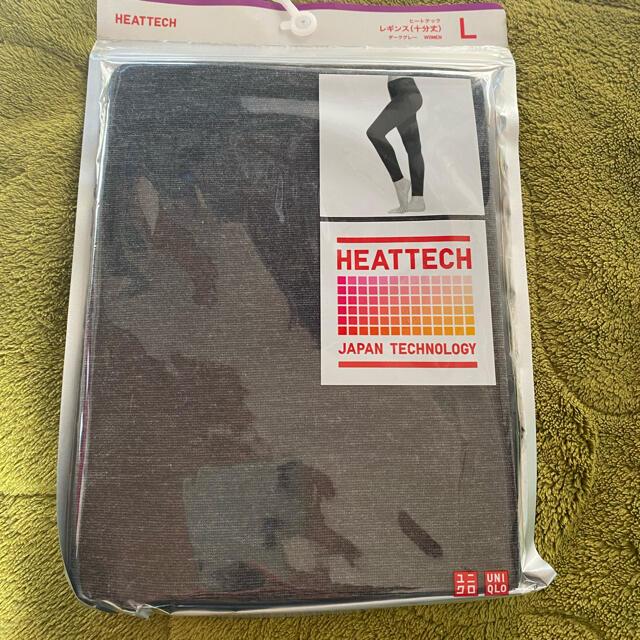 UNIQLO(ユニクロ)のユニクロ ヒートテック レギンス グレー  Lサイズ レディースの下着/アンダーウェア(アンダーシャツ/防寒インナー)の商品写真