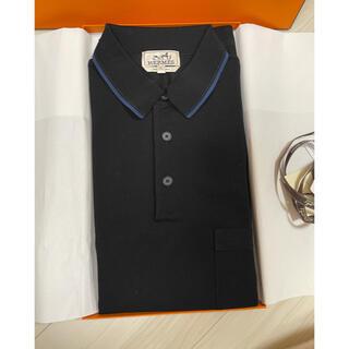 Hermes - エルメス メンズポロシャツ ボタン付 H刺繍