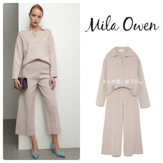 Mila Owen - ミラオーウェン ♡ニットシャツ セットアップ