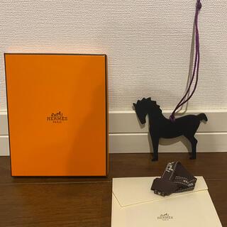 Hermes - 未使用⭐︎エルメスプティアッシュのホース馬型ブラック黒×ブラウン茶紫パープル