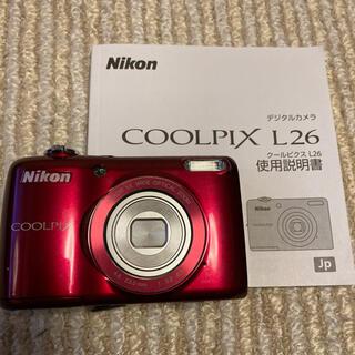Nikon - デジカメ Nikon COOLPIX L26 乾電池式
