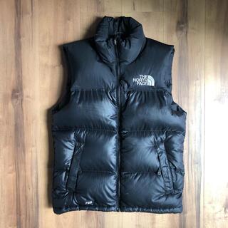 THE NORTH FACE - 良品ノースフェイス700フィル黒ヌプシダウンベストジャケット