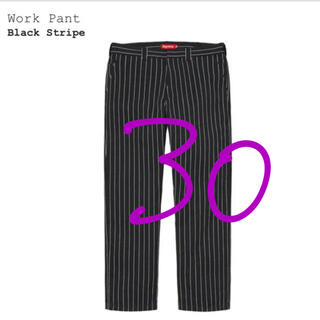 Supreme - 30 supreme work pant black stripe