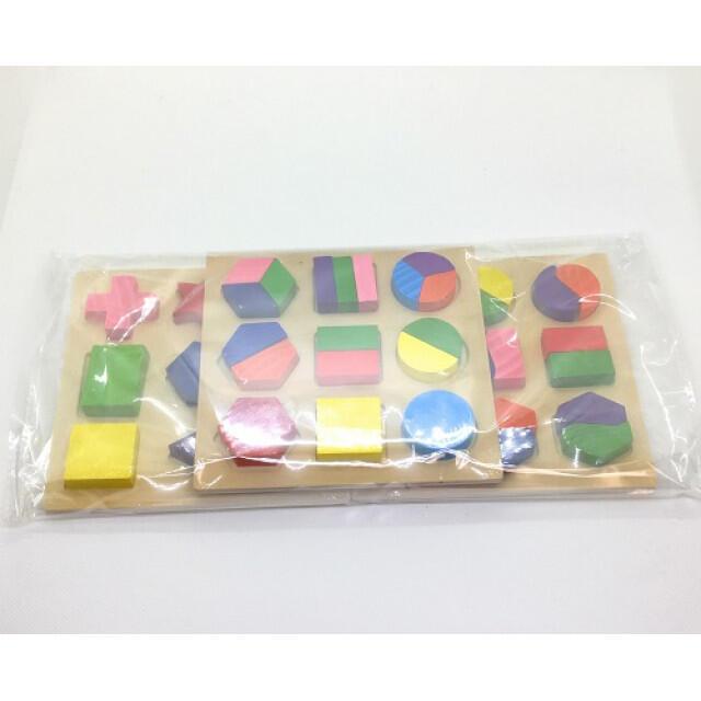 型はめパズル 3枚セット 知育玩具 モンテッソーリ キッズ/ベビー/マタニティのおもちゃ(知育玩具)の商品写真