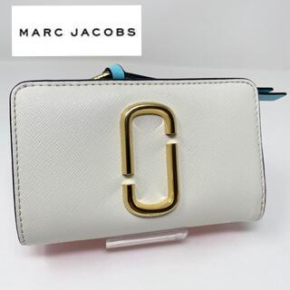 マークジェイコブス(MARC JACOBS)のMARC JACOBS 二つ折り財布 スナップショット ホワイト レッド(財布)