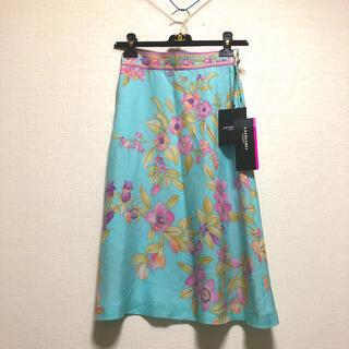 LEONARD - 新品タグ付き レオナール 水色 花柄 スカート