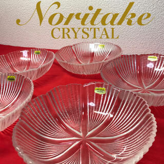 ノリタケ(Noritake)の[未使用] Noritake CRYSTAL  ボウル 5客  15.5cm(食器)