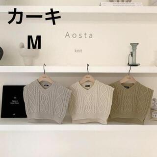 韓国子供服 AOSTA  ツイードニットベスト